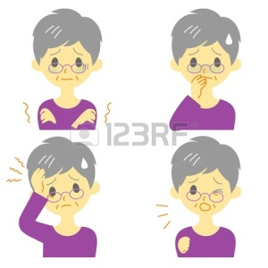 20288175-disease-symptoms-01-fever-and-chills-headache-nausea-cough-expressions-old-woman