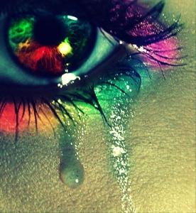 colored tear