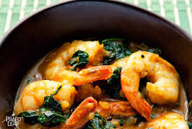 shrimp and spinach